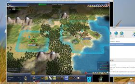 Civilization IV: Beyond the Sword 3.13 gameplay in Cedega